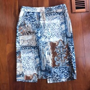 KAREN KANE ABSTRACT PRINT SKIRT, SIZE 8